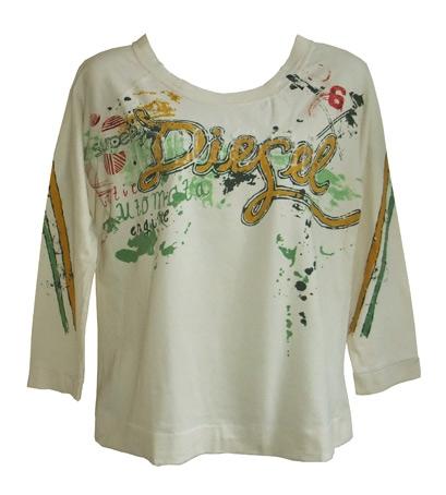 Diesel shirt met glitteropdruk,  maat M