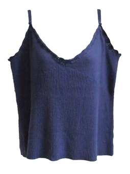 korenblauwe top met angora & kasjmier - nieuw -,  maat XL