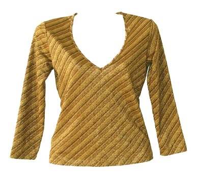 MNG goudtricot,  maat XS
