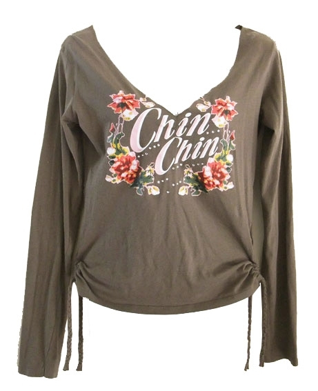 Chin Chin shirt met strass,  maat S