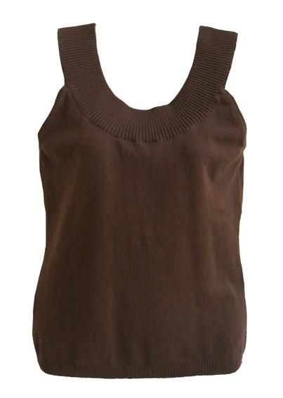 bruine top met merinowol - nieuw -,  maat L
