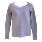 lavendel trui met lamswol en angora, maat S
