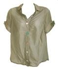 Hugo Boss zandkleurige blouse, maat S