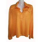 oranje vintage tricot, maat 48 / 50