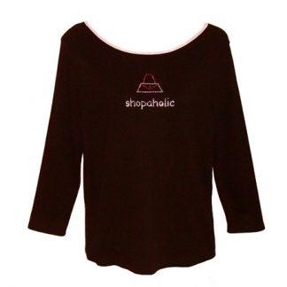 "longsleeve ""shopaholic"""