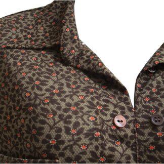 """vintage blouse """"Orange dots"""""""