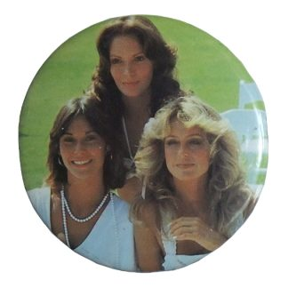 "vintage button ""Charlies Angels"""