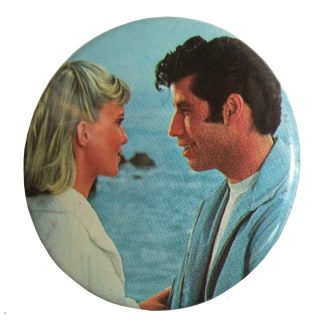 "vintage button ""Grease"""