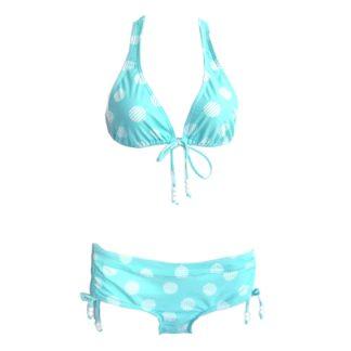 mintgroene bikini met bollen – nieuw