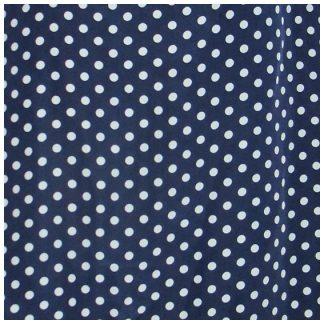 marineblauwe polkadot blouse