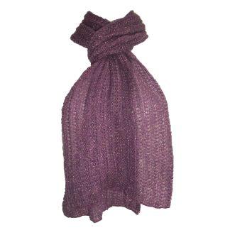 paarse sjaal met gouddraadje – nieuw